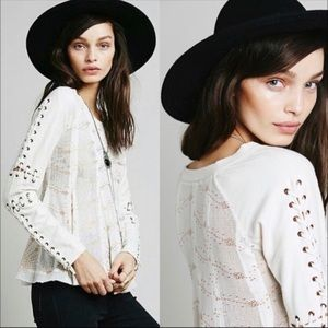 FREE PEOPLE NEW ROMANTICS HEAVY METAL Top